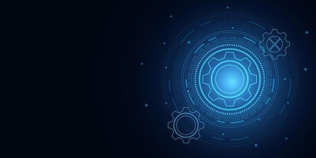 Tecnologia e engenharia digital, conceito de telecomunicações digitais