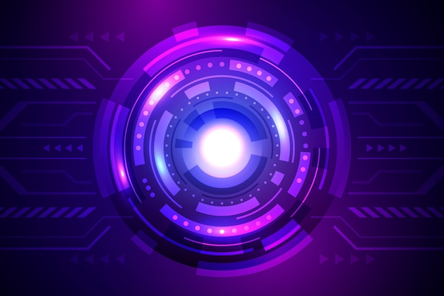 Tecnologia e fundo futurista