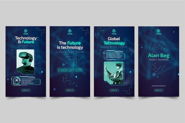 Tecnologia e futuras histórias do instagram
