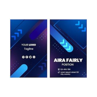 Tecnologia e futuro cartão de visita vertical