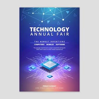 Tecnologia e futuro flyer vertical
