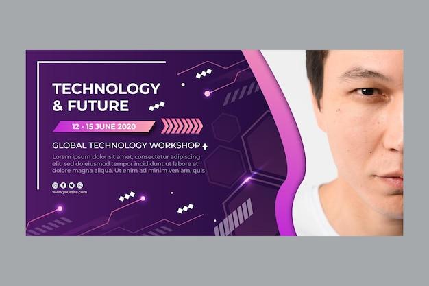 Tecnologia e modelo de banner futuro