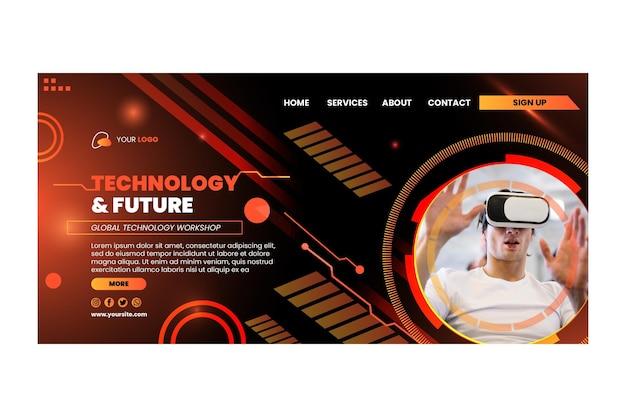 Tecnologia e página de destino futura