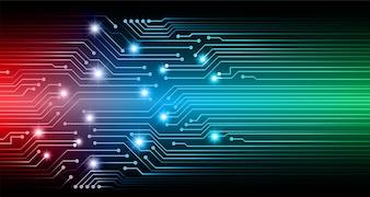 Tecnologia futura da placa de circuito do Cyber.