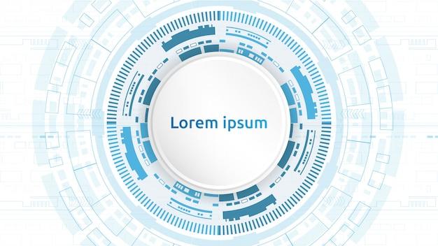 Tecnologia futurista, conceito de telecomunicações digital. abstrato azul
