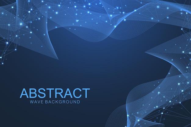 Tecnologia futurista de blockchain do fundo do vetor abstrato. conceito de negócio de rede ponto a ponto