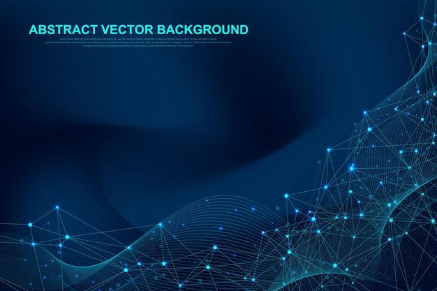 Tecnologia futurista de blockchain do fundo do vetor abstrato.