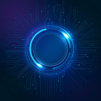 Tecnologia futurista de vetor de fundo de circuito de círculo digital