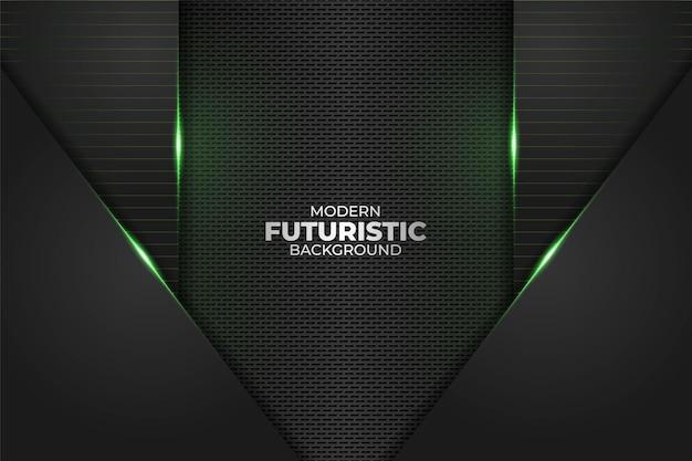 Tecnologia futurista moderna minimalista diagonal geométrica brilho verde neon em fundo escuro