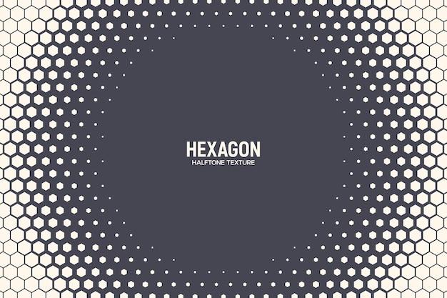Tecnologia geométrica de moldura de textura de meio-tom hexagonal