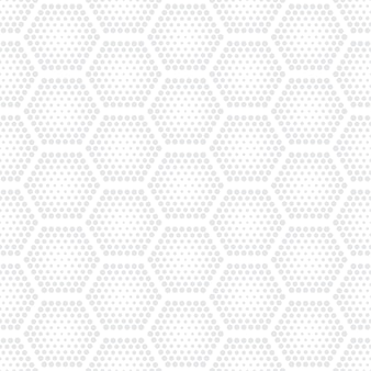 Tecnologia hex halftone light seamless pattern