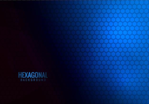 Tecnologia hexagonal abstrata azul