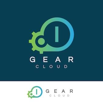 Tecnologia inicial da nuvem i design do logotipo