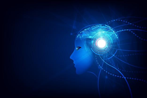 Tecnologia inteligência artificial cérebro