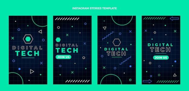Tecnologia mínima de design plano