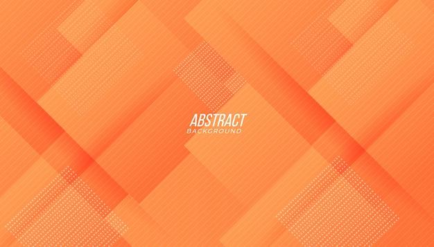 Tecnologia moderna gradiente laranja pêssego abstrato com formas geométricas