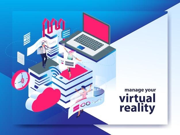 Tecnologia moderna na era moderna com realidade virtual