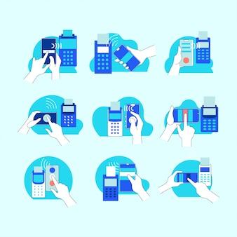 Tecnologia nfc de conceito de pagamento móvel