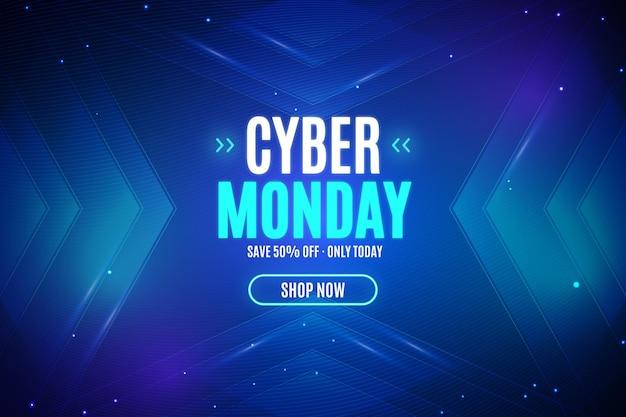 Tecnologia realista cibernética segunda-feira