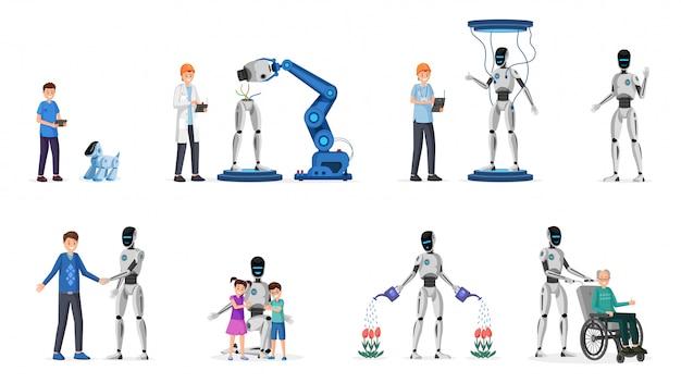 Tecnologia robótica plana s conjunto