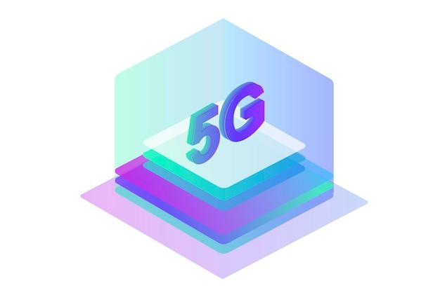 Tecnologia sem fio de rede 5g internet móvel do modelo de design de página da web de última geração
