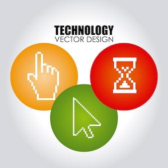 Tecnologia sobre cinza
