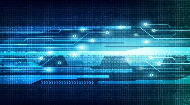 Tecnologia speed light no fundo do circuito do microchip