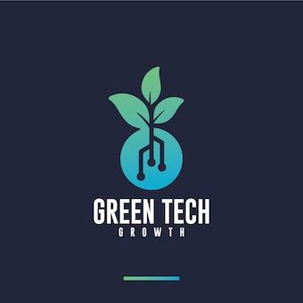 Tecnologia verde, crescimento, inspiração para o design de logotipo