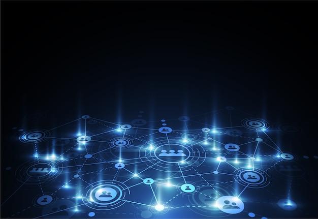 Tecnologias de conexão para negócios. mídia mista