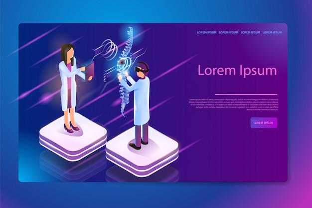 Tecnologias de realidade virtual em medicina vector