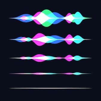 Tecnologias inteligentes soundwave. assistente pessoal e conceito de reconhecimento de voz
