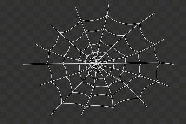 Teia de aranha assustador Vetor Premium