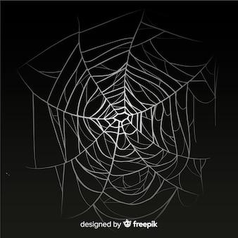 Teia de aranha realista com gradiente