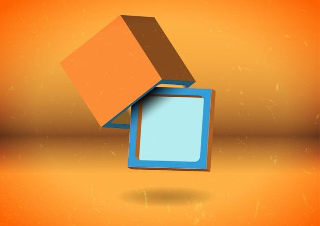 Tela cubo abstrato