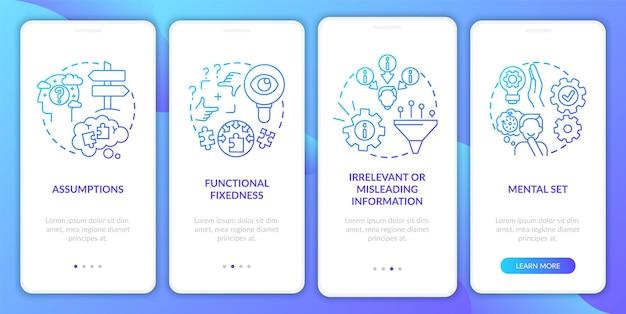 Tela da página do aplicativo móvel de integração da marinha de obstáculos para resolver problemas