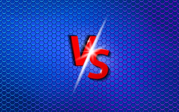 Tela de batalha versus design de modelo de plano de fundo
