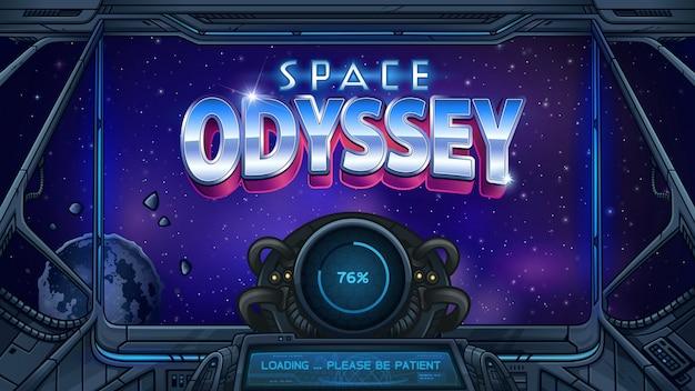Tela de carregamento space odyssey para jogo de slot