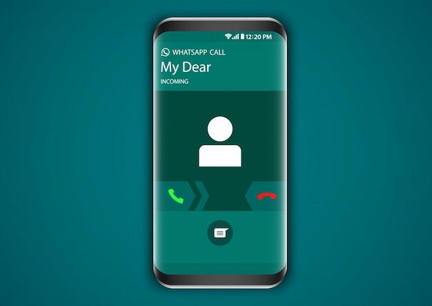 Tela de chamada de entrada whatsapp