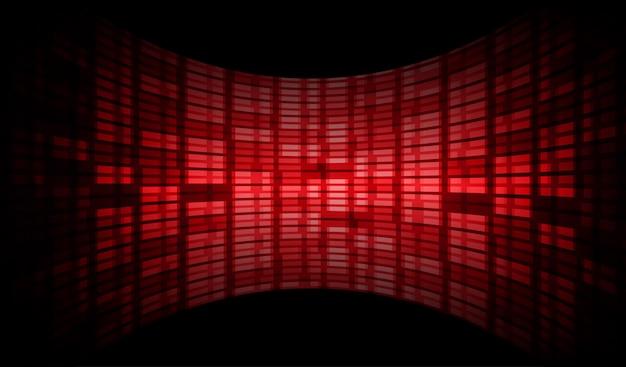 Tela de cinema azul led vermelho para apresentação de filme.
