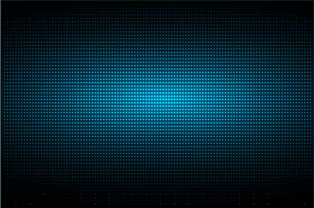 Tela de cinema led azul
