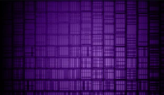Tela de cinema led roxo para apresentação de filmes. fundo de luz tecnologia abstrata