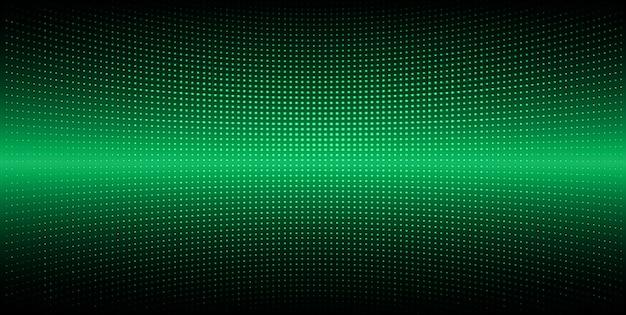 Tela de cinema led verde para apresentação de filmes