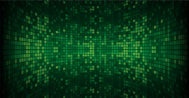 Tela de cinema led verde