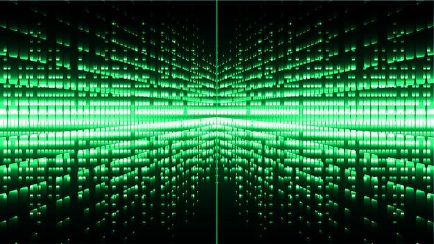 Tela de cinema verde led para apresentação de filmes. fundo abstrato tecnologia clara