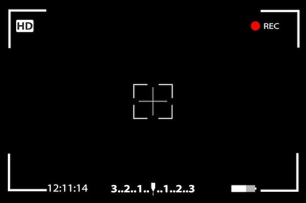 Tela de focagem do visualizador de câmera