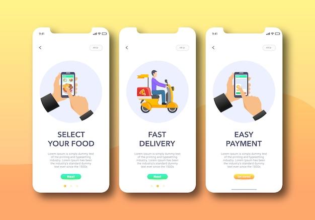 Tela de integração do aplicativo de alimentos