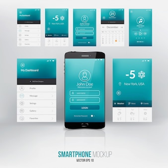 Tela de interface de usuário moderna