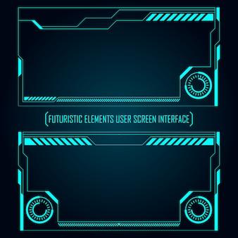 Tela de monitor futurista