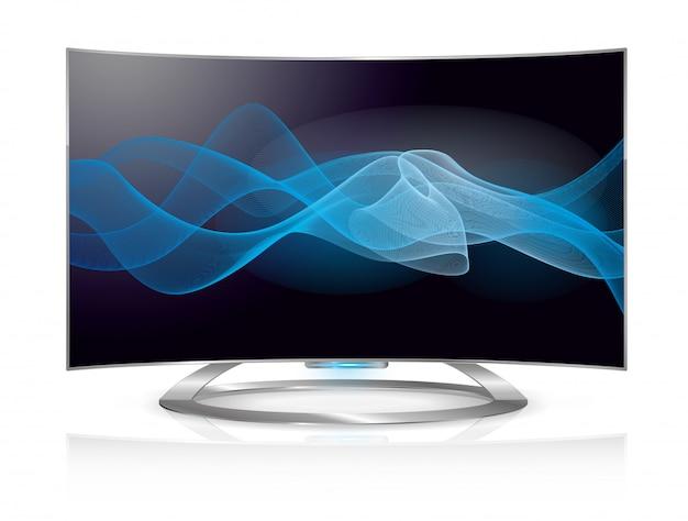 Tela de ondas de tv curvo