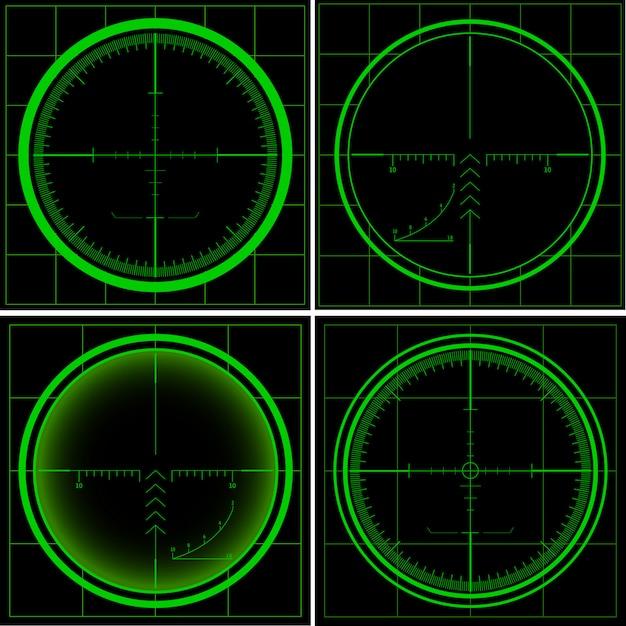 Tela de radar Vetor Premium